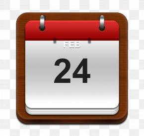 Wood Board Calendar - Calendaring Software Application Software Icon PNG