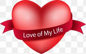Life In Love - Heart Love PNG