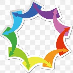 Vector Colorful Arrows - Euclidean Vector Arrow PNG
