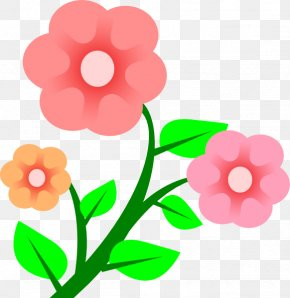 Pink Flowers Cartoon - Flower Spring Free Content Clip Art PNG