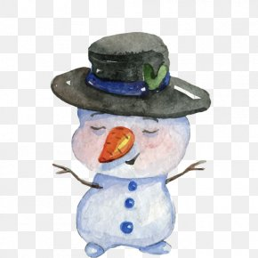Snowman - Snowman Watercolor Painting Christmas PNG
