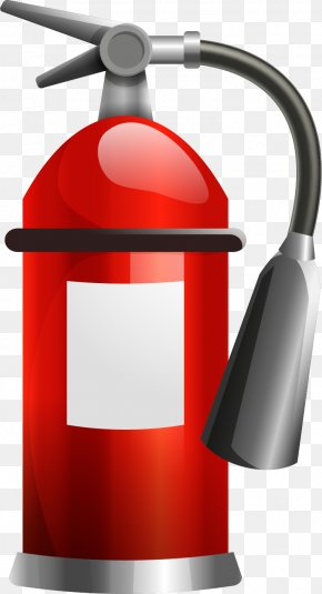 Vector Painted Fire Extinguisher - Fire Extinguisher Drawing Euclidean Vector PNG