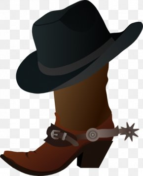 Cartoon Cowboy Cliparts - Hat N Boots Cowboy Boot Clip Art PNG