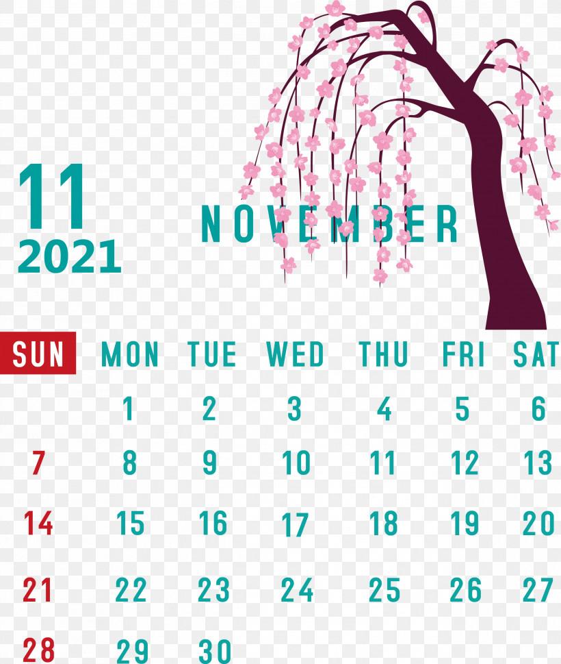 November 2021 Calendar November 2021 Printable Calendar, PNG, 2537x3000px,  Download Free