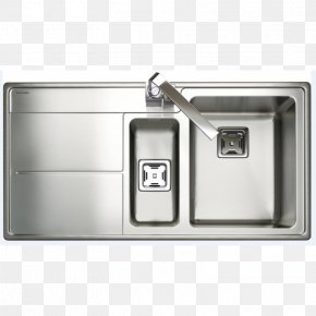 Sink - Sink Stainless Steel Manufacturing Bowl Brushed Metal PNG