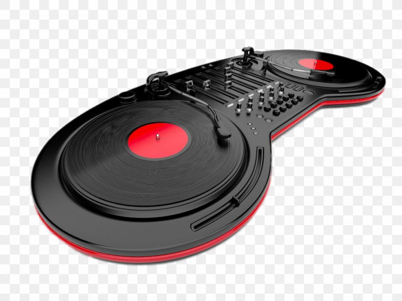 Disc Jockey Phonograph Record Mixing Console Illustration, PNG, 1000x750px, Watercolor, Cartoon, Flower, Frame, Heart Download Free