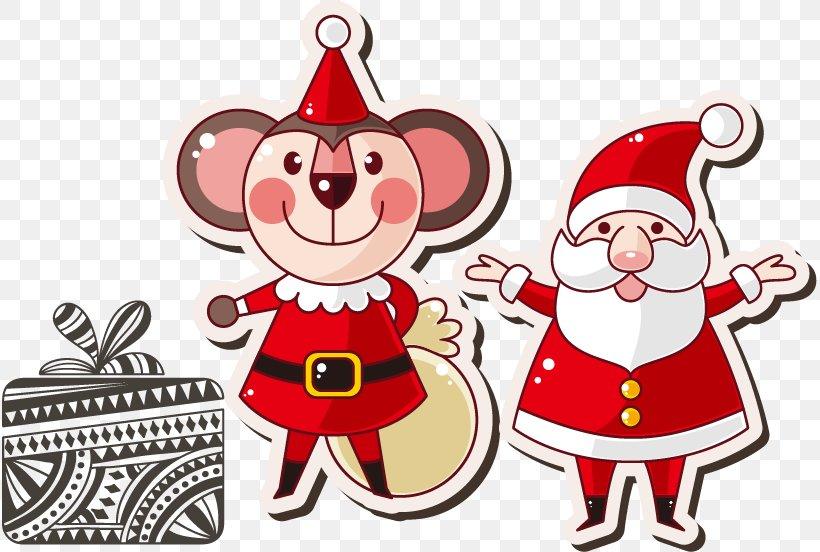 Santa Claus Christmas Ornament Clip Art, PNG, 815x552px, Santa Claus, Animal, Animation, Art, Cartoon Download Free