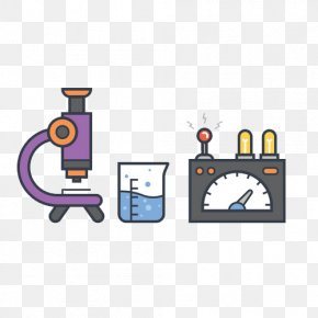 Hand-painted Microscope - Laboratory Chemistry Experiment Icon PNG
