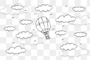 Vector Hot Air Balloon - Drawing Cloud Euclidean Vector PNG