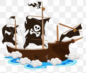 Ship - Vector Graphics Piracy Ship Jolly Roger Illustration PNG
