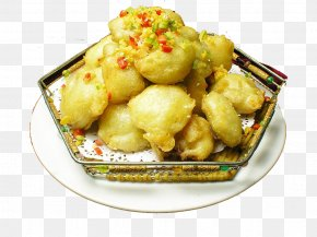Fried Lotus Root Folder - Chinese Cuisine Fast Food Pakora Nian Gao Lotus Root PNG