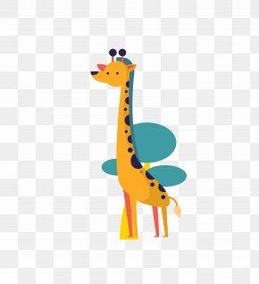 Vector Color Small Animal Giraffe - Giraffe Flat Design Lion PNG