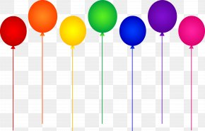 Birthday Divider Cliparts - Balloon Party Clip Art PNG