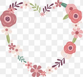 Cartoon Rose Love - Love Two Woods Estate Wedding Engagement Heart PNG