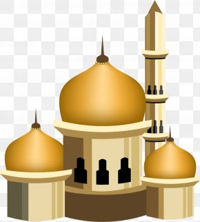Vector Painted Golden Castle - Quran Islam Mosque Muslim Eid Al-Fitr PNG