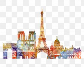 Watercolor Painting In Paris - Paris Watercolor Painting PNG