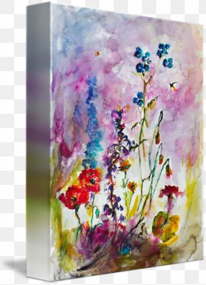 Ink Watercolor Painting - Floral Design Watercolor Painting Still Life Photography Modern Art PNG