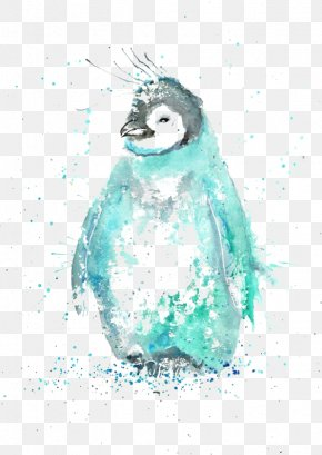 Penguin - Penguin Watercolor Painting Drawing Illustration PNG
