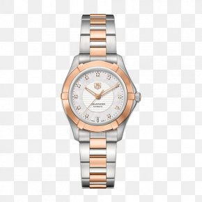 TAG Heuer Aquaracer Series Ms. Mechanical Watch - TAG Heuer Automatic Watch Diamond Dial PNG