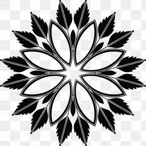 Floralelement - Black And White Floral Design Clip Art PNG