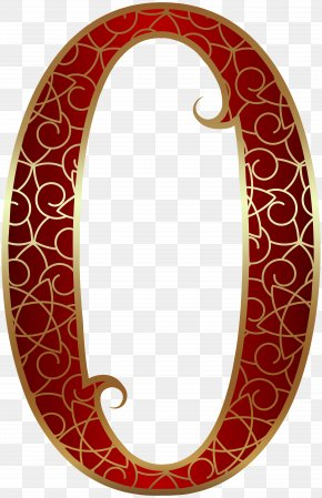 Gold Red Number Zero Clip Art Image - Clip Art PNG