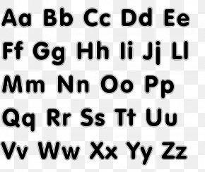 Letter Case Alphabet Font - Typeface Alphabet Letter Printing Font PNG