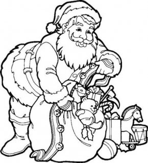 Father Christmas Pictures To Colour - Santa Claus Coloring Book Father Christmas Child PNG