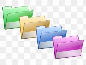 Colorful Folder - Directory Clip Art PNG