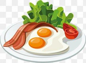 Green Vegetables Egg - Hamburger Bacon Breakfast Pancake Clip Art PNG