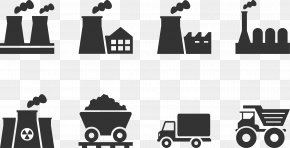 Black Factory Chimney Car - Factory Industry Icon PNG