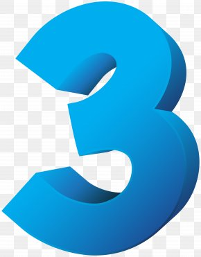 Blue Number Three Transparent Clip Art Image - Royalty-free Clip Art PNG