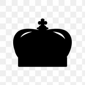 Silhouette - Silhouette Black And White Crown Tiara PNG