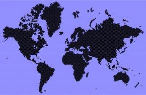 World Map - World Map Globe Clip Art PNG