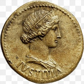 Coin - Coin Roman Empire Dupondius Lady Justice Augusta PNG