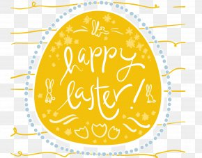 Vector Happy Easter Card - Easter Bunny Easter Postcard Easter Egg PNG