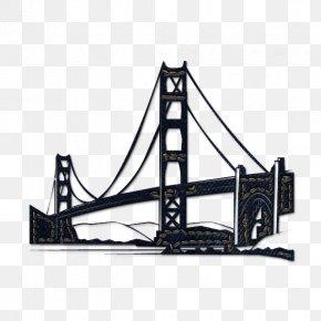 Black Bridge Cliparts - Golden Gate Bridge San Francisco Cable Car System Clip Art PNG