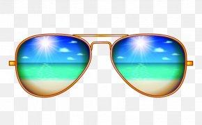 Creative Aviator Sunglasses Illustration - Sunscreen Aviator Sunglasses PNG