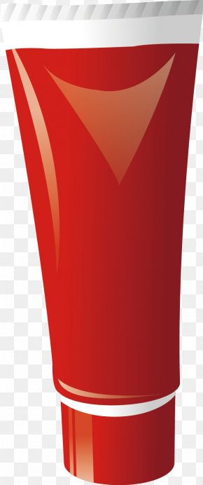 Red Cosmetic Bottle - Sunscreen Cosmetics PNG