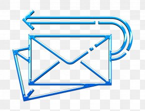 Triangle Parallel - Mail Icon PNG