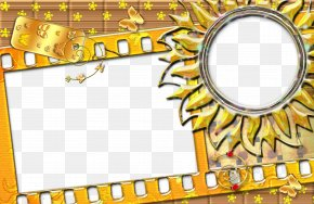 Yellow Sun Retro Decorative Film,frame - Photographic Film Film Frame Picture Frame PNG