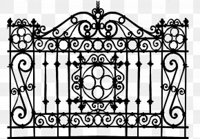 Wrought Iron Gates - Gate Wrought Iron 3D Computer Graphics Deck Railing PNG