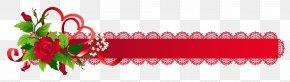 Ribbon - Ribbon Valentines Day Rose Clip Art PNG