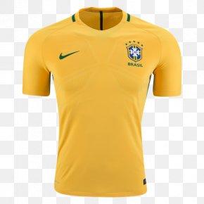 World Cup Jersey - Brazil National Football Team T-shirt 2018 FIFA World Cup Paris Saint-Germain F.C. PNG