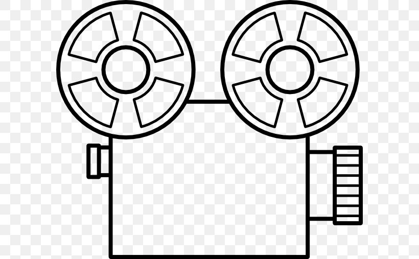 Film Movie Camera Reel Clip Art, PNG, 600x507px, Film, Area, Art, Black And White, Camera Download Free