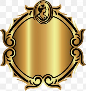 Gold Pattern Decorative Circular Frame - Picture Frames PNG