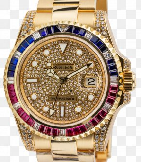Diamond Watch - Rolex GMT Master II Rolex Daytona Rolex Datejust Rolex Submariner Watch PNG