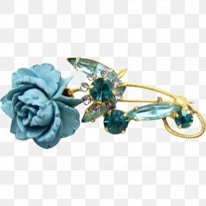 Rose - Aqua Blue Rose Teal PNG