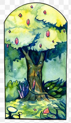 Wishing Tree - Palm Trees Watercolor Painting Drawing PNG