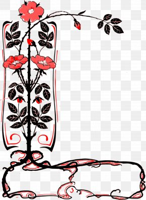Flower Label - Picture Frames Borders And Frames Clip Art PNG
