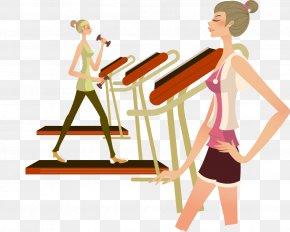 Gym Woman Fashion - Fitness Centre Cartoon Sport Illustration PNG